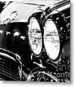 Corvette Picture - Black And White C1 First Generation Metal Print