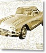 Corvette Sport Car Catus 1 No 2 Metal Print