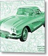 Corvette Sports Car Catus 1 No 3 Metal Print