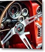 Corvette Steering Wheel Metal Print