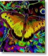 Cosmic Butterfly Metal Print by Rebecca Flaig