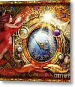 Cosmic Clock Metal Print by Ciro Marchetti