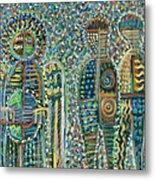 Cosmic Creation Of Adam And Eve Metal Print
