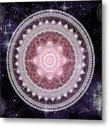 Cosmic Medallions Fire Metal Print