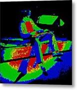 Cosmic Motor Scooter In Spokane 1977 Metal Print