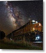 Cosmic Railroad Metal Print