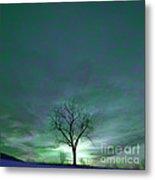Cosmic Sky Winter Tree Metal Print