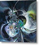 Cosmic Spider Metal Print