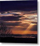 Cosmic Spotlight On Shannon Airport Metal Print