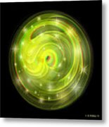 Cosmic Swirl - Use Red-cyan Filtered 3d Glasses Metal Print