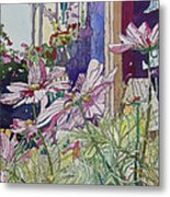Cosmos At The Coffee Shoppe Metal Print