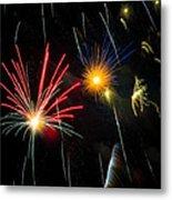 Cosmos Fireworks Metal Print by Inge Johnsson