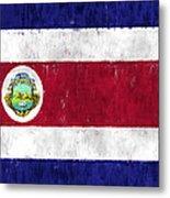 Costa Rica Flag Metal Print