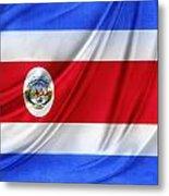 Costa Rican Flag Metal Print