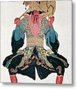 Costume Design For A Chinaman Metal Print