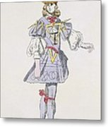 Costume Design For Geometry In A 17th Metal Print
