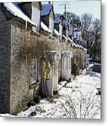 Cotswolds Cottages In Winter  Metal Print