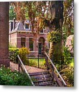 Cottage At The Church In Giethoorn. Netherlands Metal Print