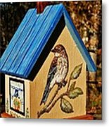 Cottage Birdhouse-back Metal Print