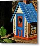 Cottage Birdhouse Metal Print