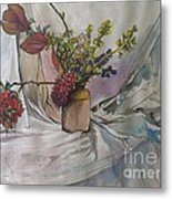 Cottage Flowers Metal Print
