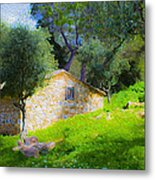 Cottage In The Forest Metal Print