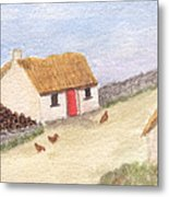 Cottage In The West Metal Print