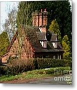 Cottage Next To Road Metal Print