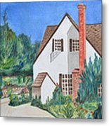 Cottage On A Hill Metal Print