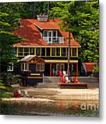 Cottage On A Lake Metal Print