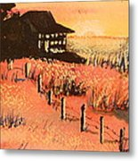 Cottage On Beach Metal Print