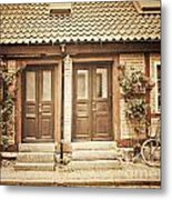 Cottage Townhouses In Lund Metal Print