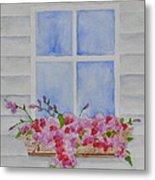 Cottage Window Metal Print