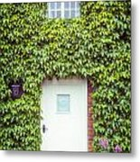 Cottage With Ivy Metal Print