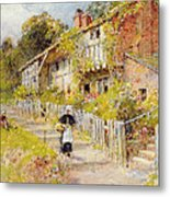 Cottages   A Row Of Cottages Metal Print
