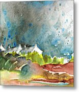 Cottages In Brittany Metal Print
