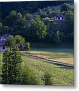 Cottages In The Mountain Metal Print