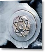 Cotter Pin For Driver Wheels On A Steam Locomotive Metal Print by Wernher Krutein