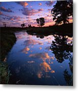 Cotton Ball Sunrise Metal Print