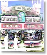 Cotton Candy Castle Metal Print