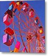 Cotton Candy Ferris Wheel Metal Print