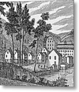 Cotton Factory Village, Glastenbury, From Connecticut Historical Collections, By John Warner Metal Print