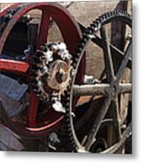 Cotton Gin Gears Metal Print