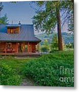 Cottonwood Cottage At Sunset Metal Print