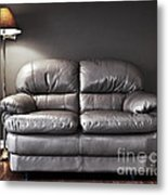 Couch And Lamp Metal Print