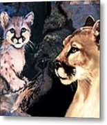 Cougar And Babe Metal Print