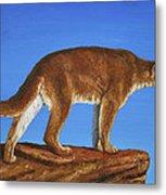 Cougar Cliff Metal Print