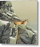 Cougar Perch Metal Print