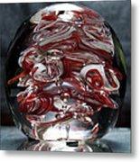 Cougar Spirit Glass Metal Print