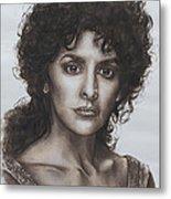 counselor Deanna Troi Star Trek TNG Metal Print by Giulia Riva
